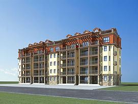 欧式多层住宅模型