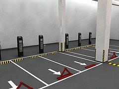 停车位模型3d模型