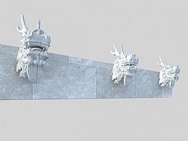 龙头雕刻模型