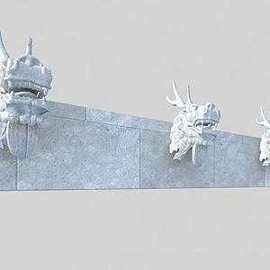 3d龍頭雕刻模型