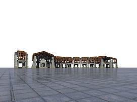 景观廊模型