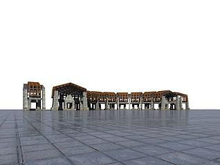 景观廊3d模型