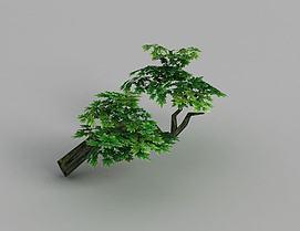 魔兽世界游戏场景树木装饰模型