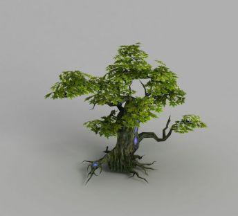 魔兽世界游戏场景树木装饰