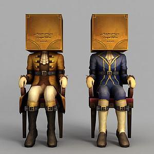 动漫人物模型3d模型