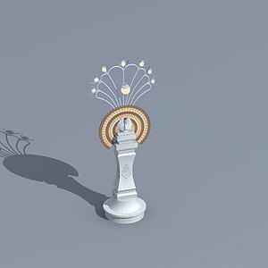 傣族景观灯模型