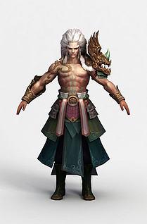 3d游戏角色英招模型