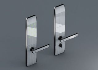 智能指纹门锁3d模型