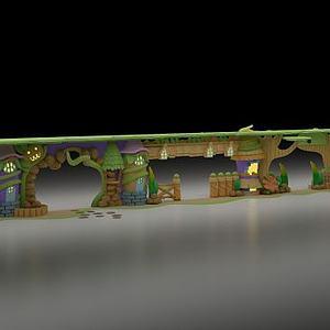 动漫森林公园门头模型