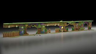 动漫森林公园门头3d模型
