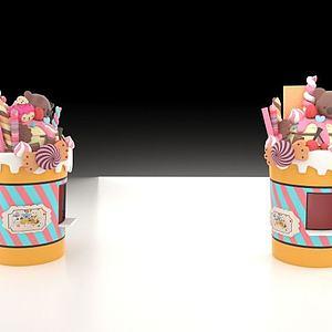 糖果冰激凌模型