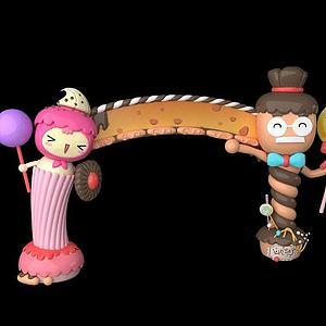 糖果风格门头模型