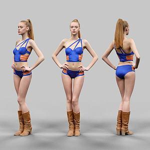 外国美女模型3d模型