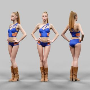 3d外国美女模型