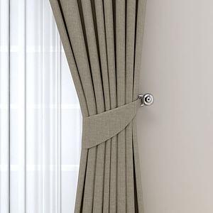 现代风格窗帘模型