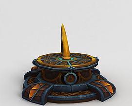 魔兽世界游戏场景装饰模型