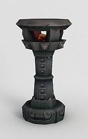 魔兽世界游戏灯柱模型