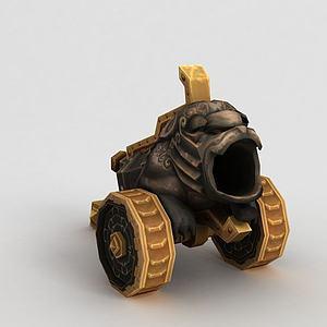 魔兽世界游戏大炮模型3d模型