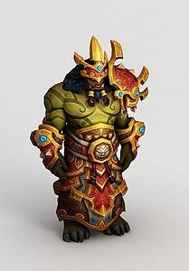 魔兽世界人物游戏形象模型3d模型