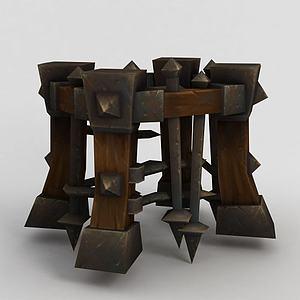 魔兽世界游戏牢笼模型3d模型