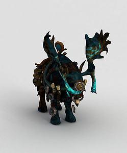 魔兽世界游戏坐骑模型3d模型