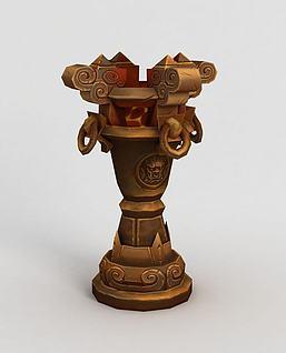 3d魔兽世界游戏场景装饰模型