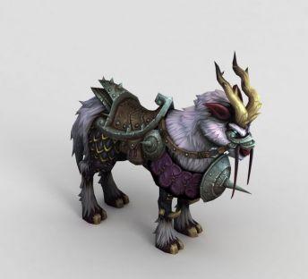 魔兽世界游戏羊坐骑