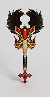 3d龙之谷武器斧头锤子模型