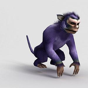3d洪荒游戏白玉猿模型