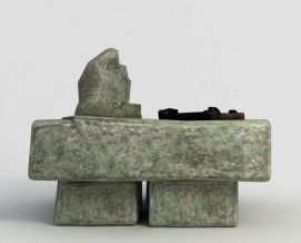 洪荒游戏石头桌子模型