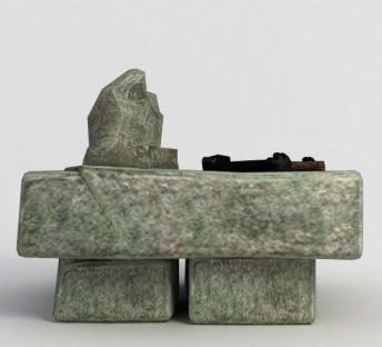 洪荒游戏石头桌子