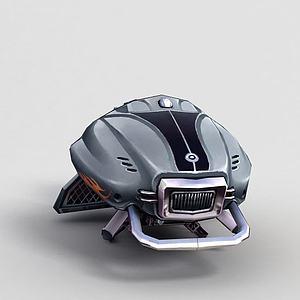 3d神魔坐騎機械飛行器模型