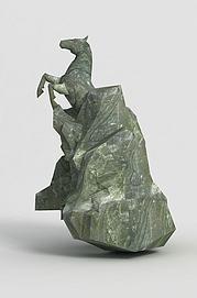 洪荒游戏雕塑马模型