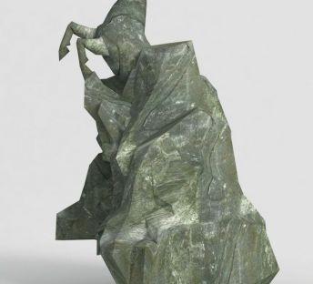 洪荒游戏雕塑马