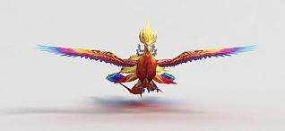 神魔坐骑坐骑火凤凰3d模型