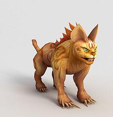 洪荒游戏山猫模型3d模型