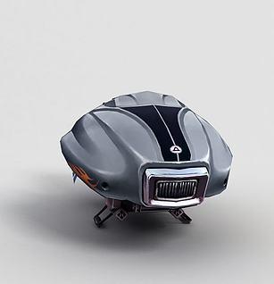神魔坐骑机械飞行器3d模型