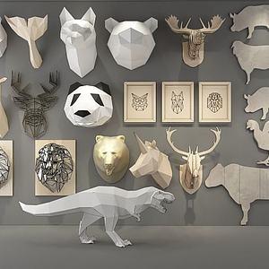 3d動物裝飾模型