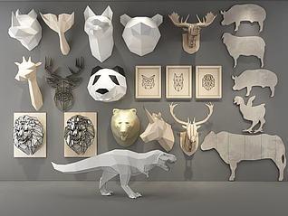 动物装饰3d模型