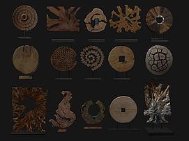 木饰雕花模型