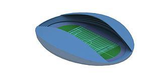 3d现代体育馆模型