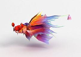 游戏飞骑金鱼模型