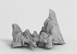 游戏龙造型假山模型