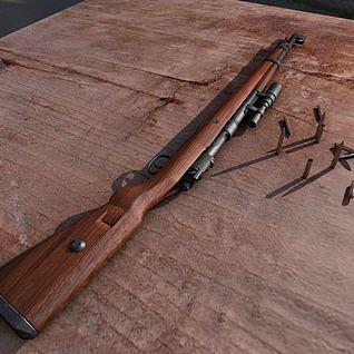 3dKar98k毛瑟步枪模型