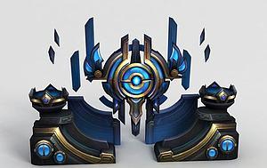 王者荣耀游戏场景模型3d模型
