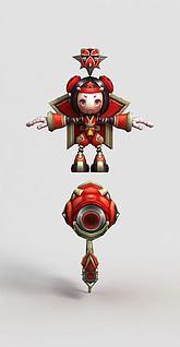 LOL王者荣耀游戏人物3d模型