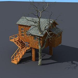 3d樹屋模型
