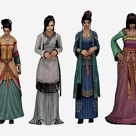 古装游戏美女模型