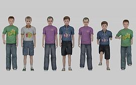 现代儿童人物模型