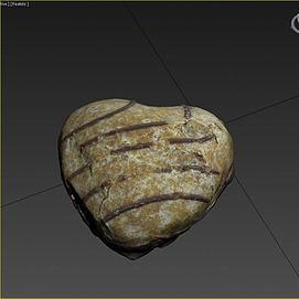 游戏食物面包模型